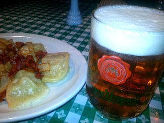 Beer and Pierogies at Czech Plaza