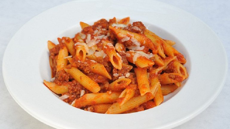 The recipe for the Bolognese pasta