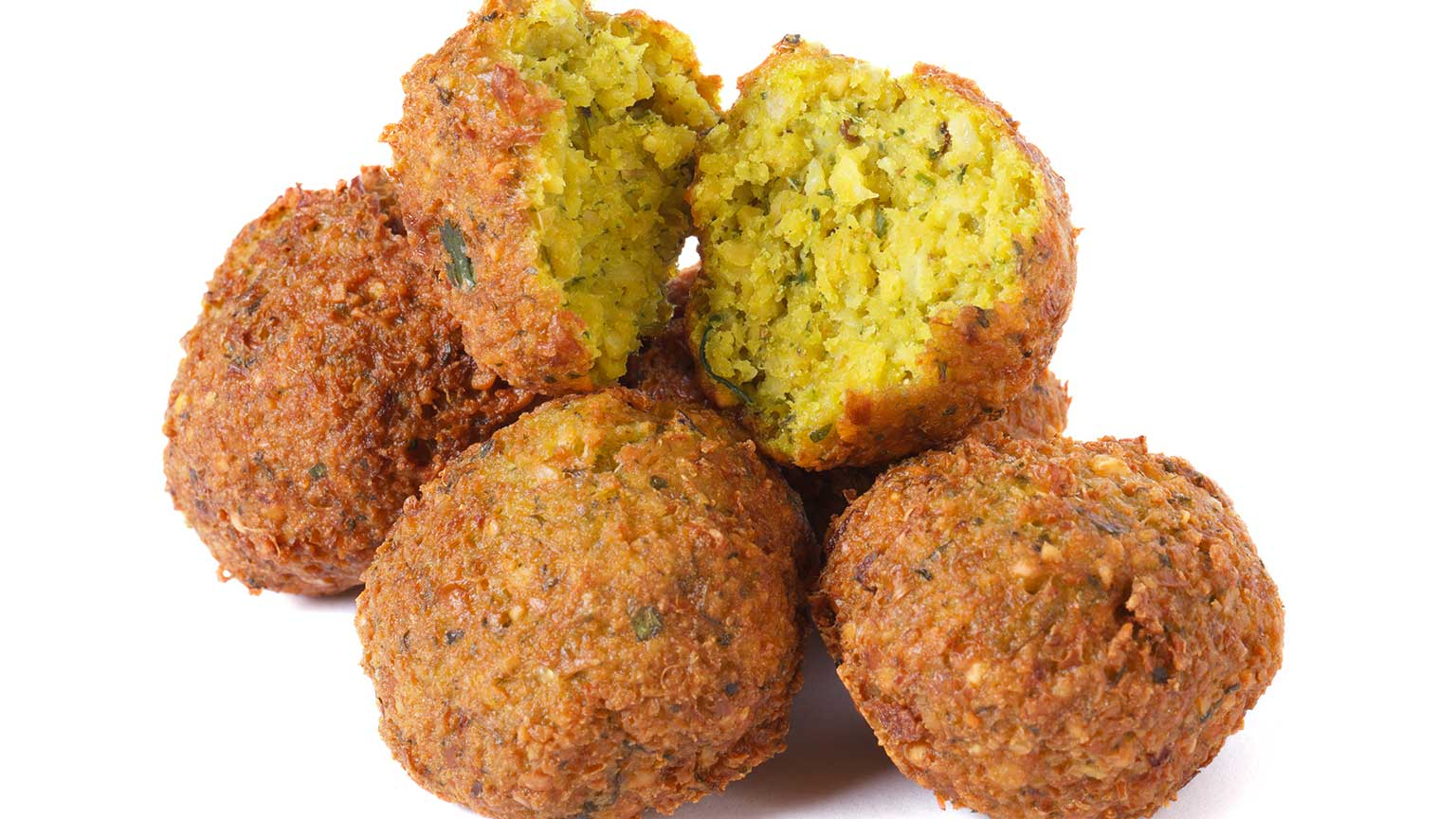 Golden-brown falafel