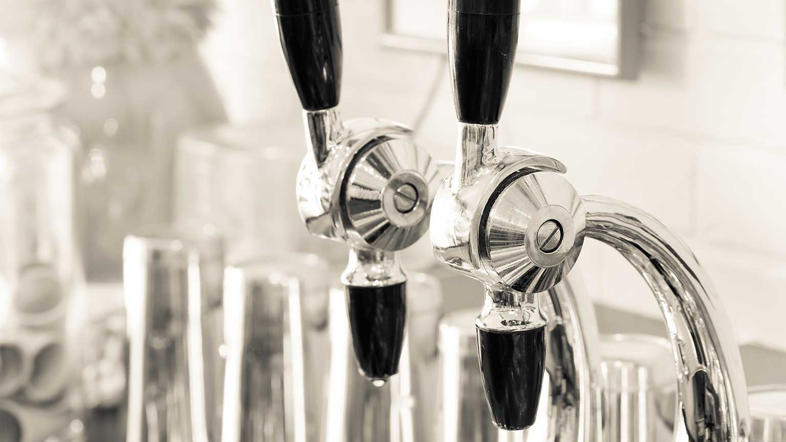 Soda fountain draft spigots