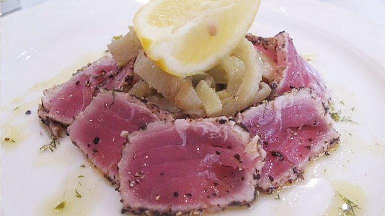 Fresh Tuna Carpaccio alla Siciliana