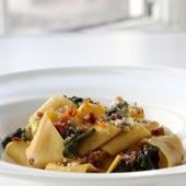 Terzo Piano Pappardelle with grilled escarole