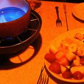 Dark Belgian Chocolate Fondue with Fresh Fruit