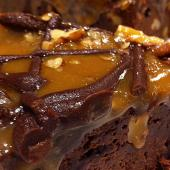 Jack Daniels Brownie with Caramel Sauce