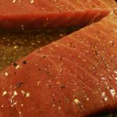 Seared Ahi Tuna with Jasmine Rice and Soy Vinaigrette