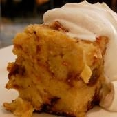 Traditional Bread Pudding With Warm Whiskey Sauce