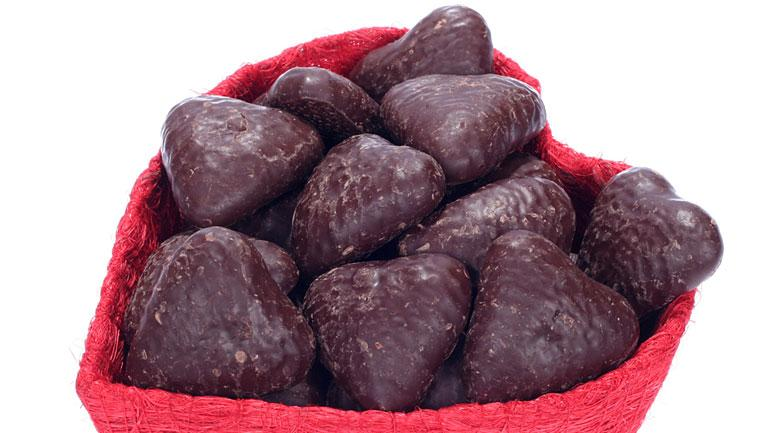 Chocolate Pave Hearts