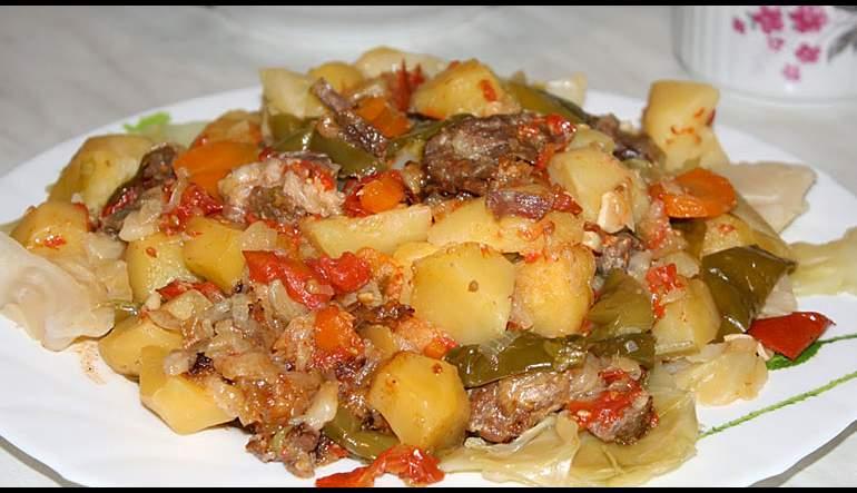 Domlama— Uzbek Vegetarian Stew