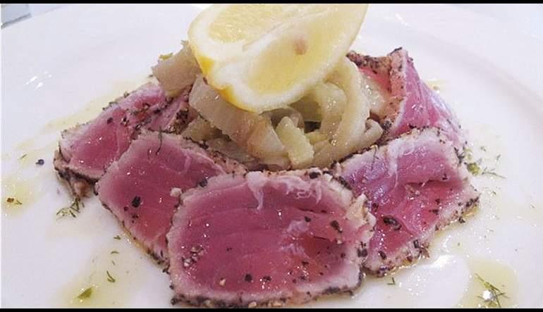 Fresh Tuna Carpaccio alla Siciliana
