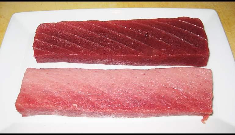 Marinated Big Eye Tuna with Jalapeno Jelly