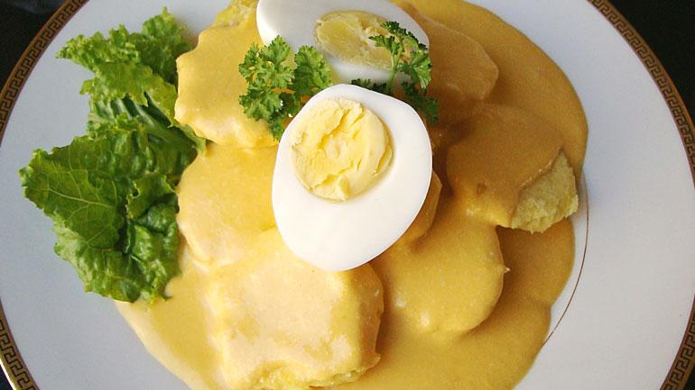 Papas a la Huancaina (Potatoes with Peruvian Cheese Sauce)