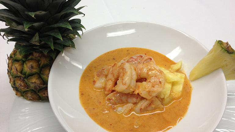 Pineapple Curry Shrimp