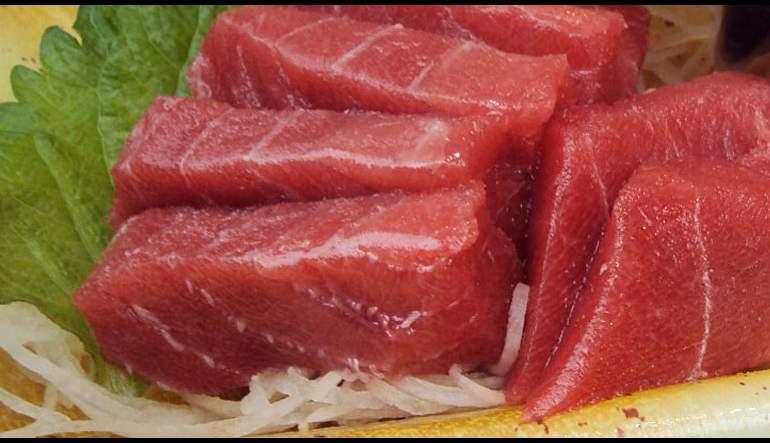 Tuna tiradito recipes check please wttw for Sashimi grade fish near me
